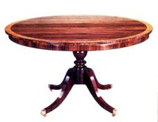 Single Pedestal Rosewood Table